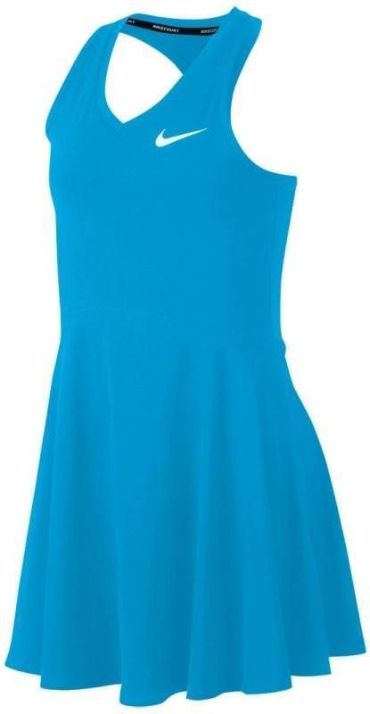 Теннисное платье для девочек Nike Court Pure Dress neo turquoise/white