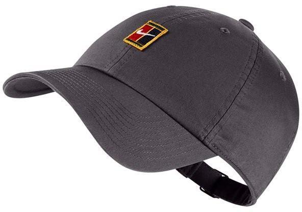 Теннисная кепка Nike H86 Court Logo Cap gunsmoke