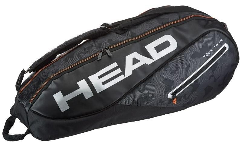 Теннисная сумка Head Tour Team 6R Combi 2018 - black/silver
