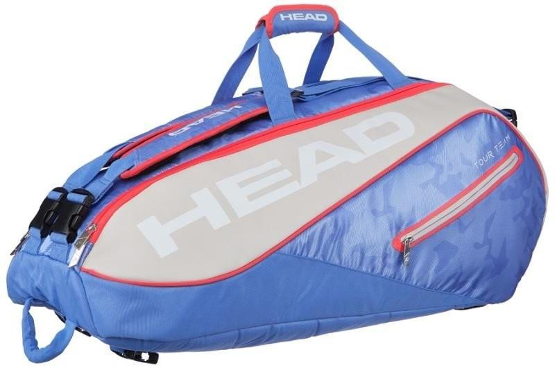Теннисная сумка Head Tour Team 9R Supercombi 2018 - light blue/sand