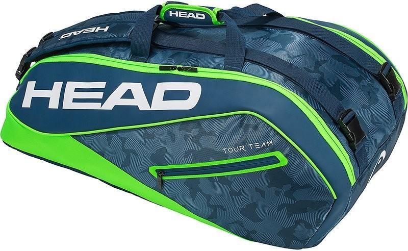Теннисная сумка Head Tour Team 9R Supercombi 2018 - navy/green