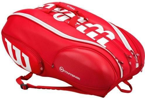 Теннисная сумка Wilson Vancouver Pro Staff 15 Pack red/white
