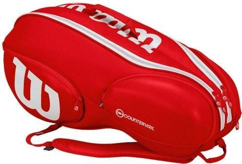 Теннисная сумка Wilson Vancouver Pro Staff 9 Pack red/white