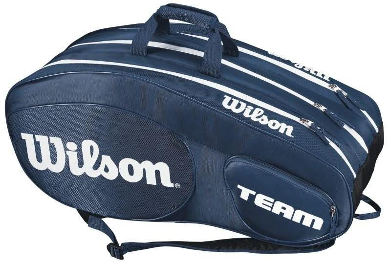 Теннисная сумка Wilson Team III 12 Pack Bag blue/white