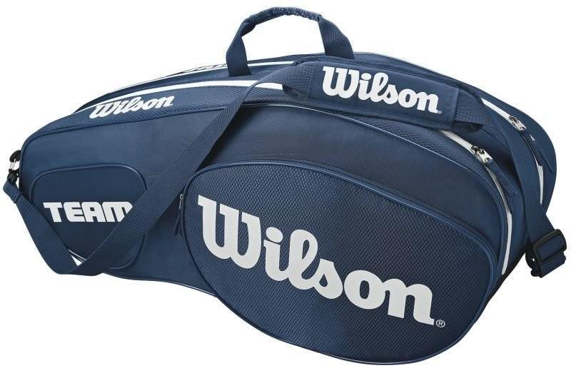 Теннисная сумка Wilson Team III 6 Pack Bag blue/white