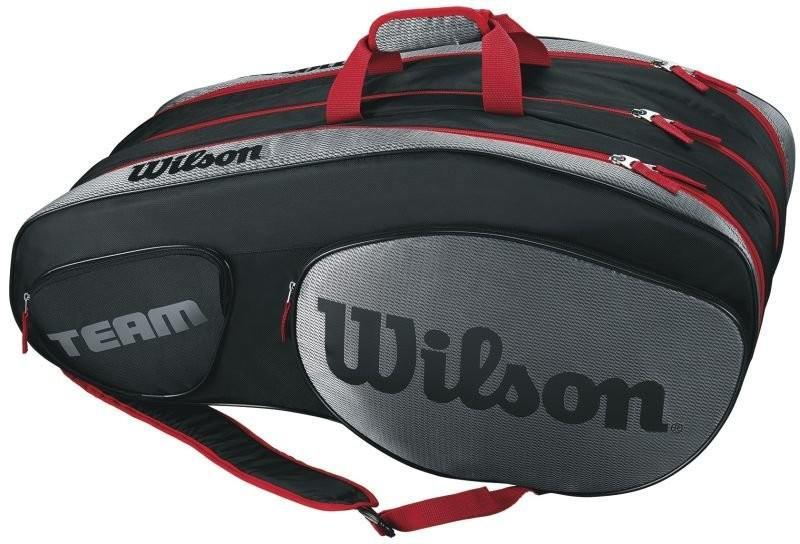 Теннисная сумка Wilson Team III 12 Pack Bag black/grey