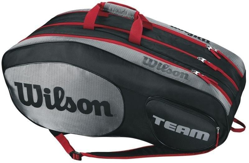Теннисная сумка Wilson Team III 12 Pack Bag black/grey