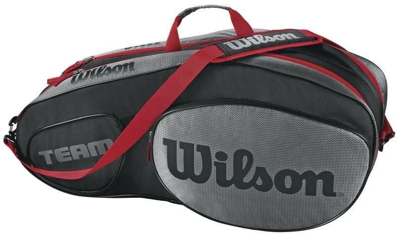 Теннисная сумка Wilson Team III 6 Pack Bag black/grey