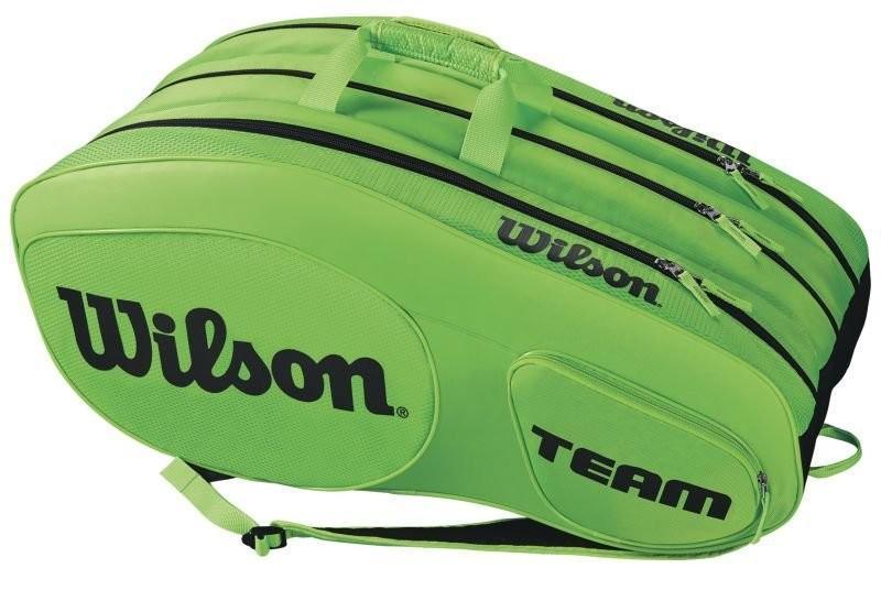 Теннисная сумка Wilson Team III 12 Pack Bag green/black
