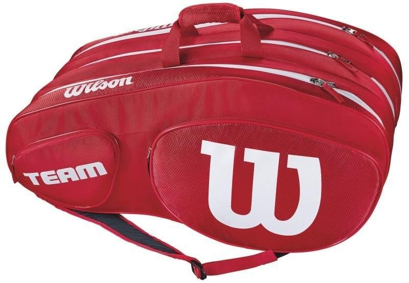 Теннисная сумка Wilson Team III 12 Pack Bag red/white