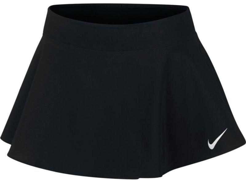 Теннисная юбка детская Nike Girl's Court Pure Flouncy Skirt black/black/black/white