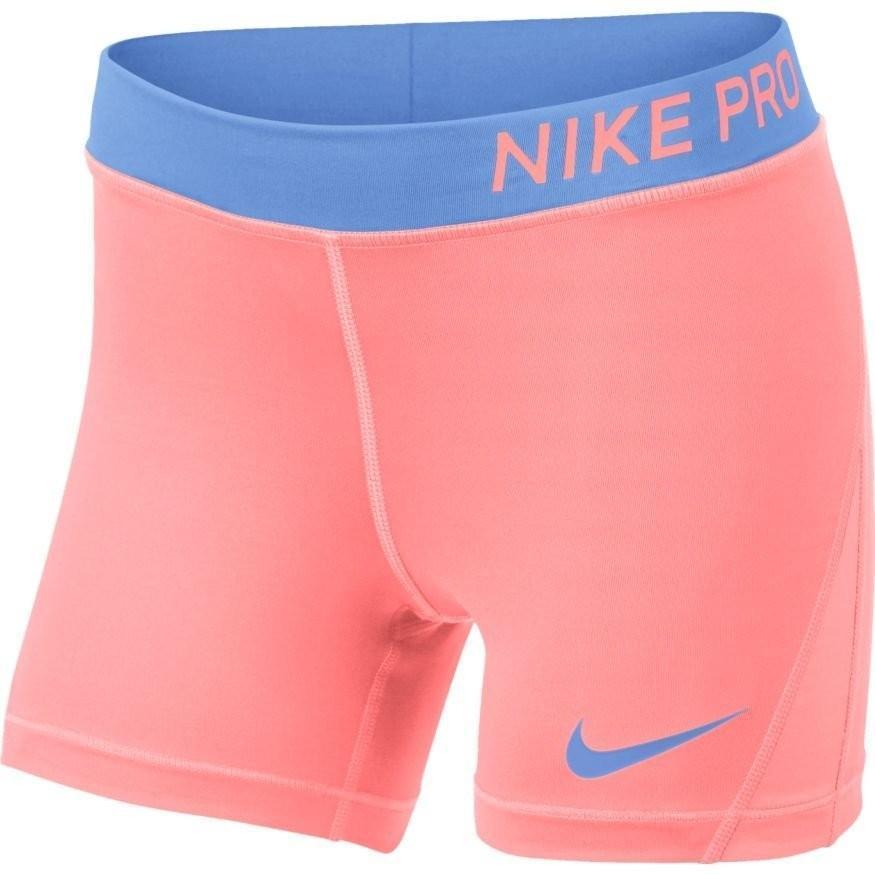 Теннисные шорты детские Nike Pro Short crimson pulse/crimson pulse/royal pulse