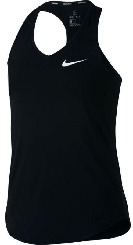 Теннисная майка детская Nike Girls Court Pure Tank black/white