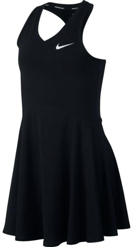 Теннисное платье для девочек Nike Court Pure Dress black/white
