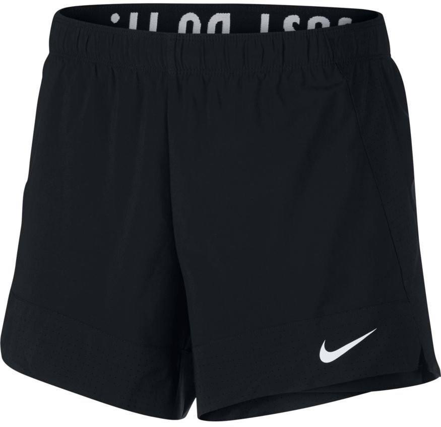 Теннисные шорты женские Nike Womens Flex Short 2in1 black/white