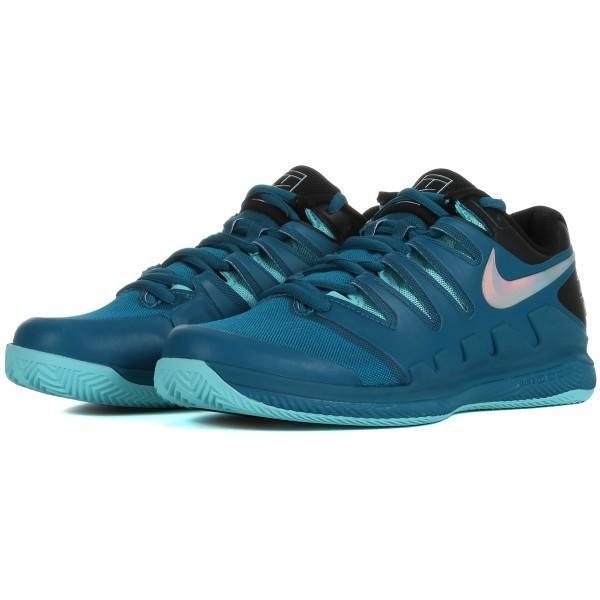 Детские теннисные кроссовки Nike Air Zoom Vapor 10 Грунт Jr green abyss/multi-color