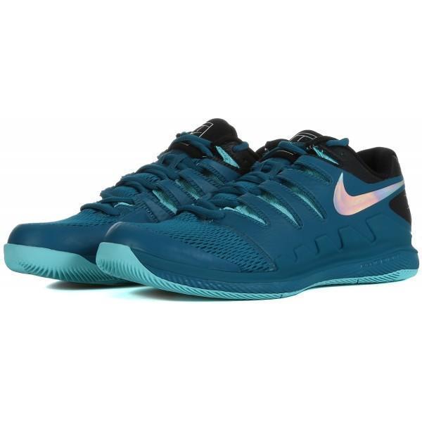 Детские теннисные кроссовки Nike Air Zoom Vapor 10 HC Jr green abyss/multi-color