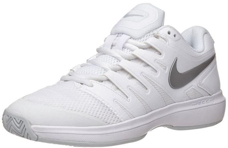 Теннисные кроссовки женские Nike WMNS Air Zoom Prestige white/metallic silver