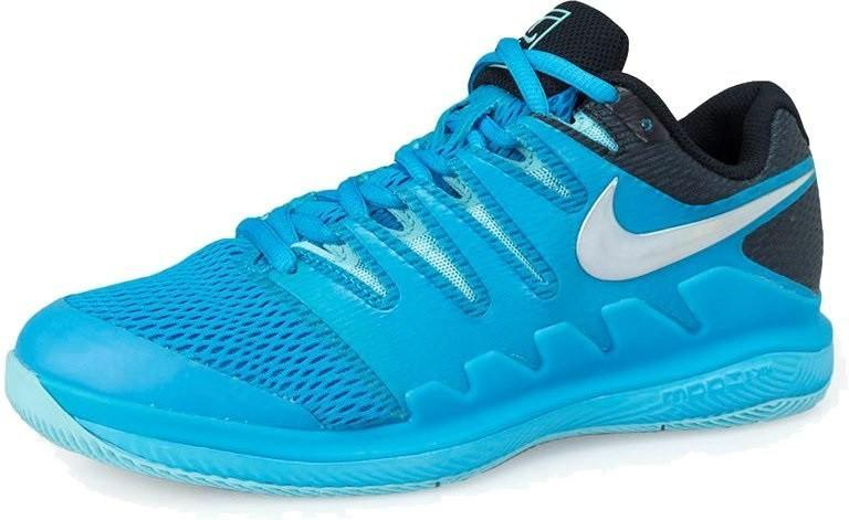 Теннисные кроссовки женские Nike WMNS Air Zoom Vapor 10 HC lt blue fury/multi-color