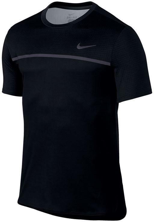 Теннисная футболка мужская Nike Challenger Crew black/gridiron/black