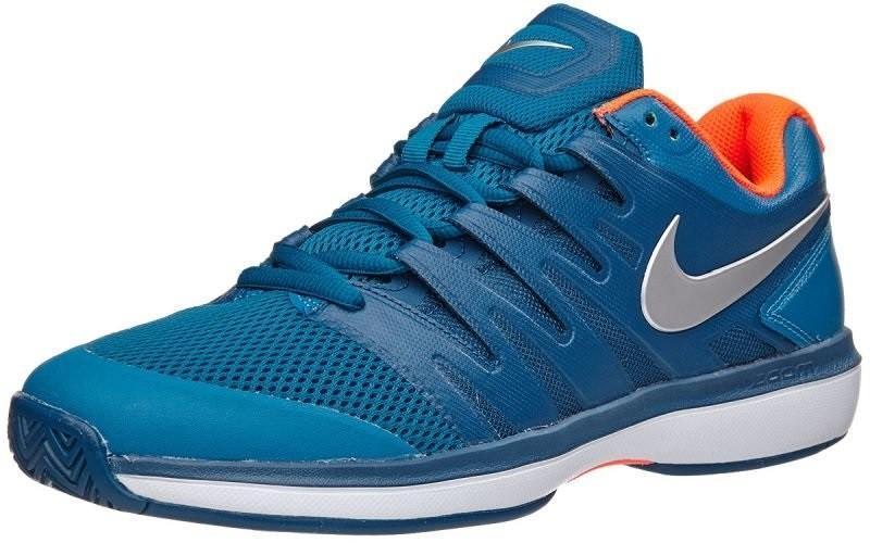 Теннисные кроссовки мужские Nike Air Zoom Prestige HC green abyss/metallic silver
