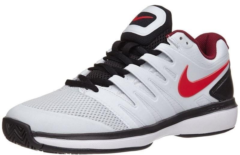 Теннисные кроссовки мужские Nike Air Zoom Prestige HC pure platinum/habanero red