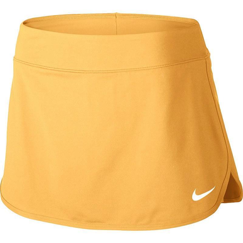 Теннисная юбка женская Nike Court Pure Skirt tangerine tint/white