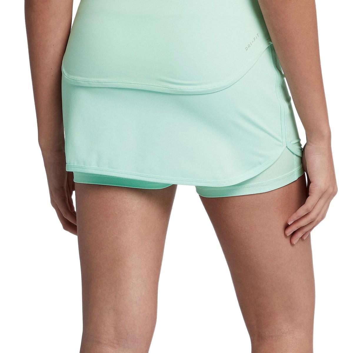 Теннисная юбка женская Nike Court Pure Skirt igloo/white