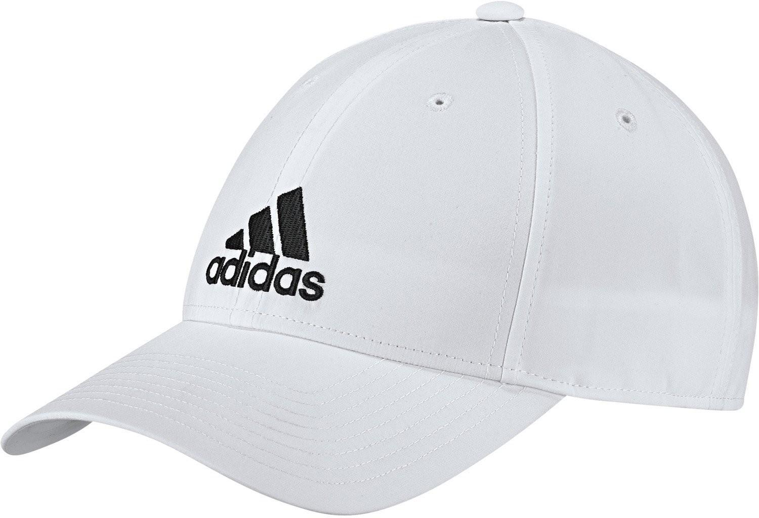 Теннисная кепка мужская Adidas 6 Panel Classic Lightweight Metal Badge white/white/black
