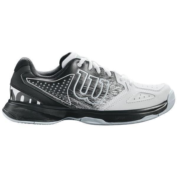 Детские теннисные кроссовки Wilson Kaos Comp JR black/white/pearl blue