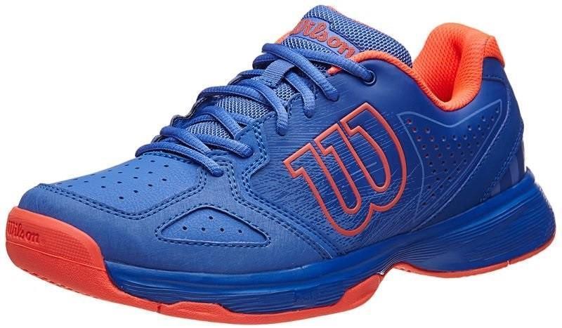 Детские теннисные кроссовки Wilson Kaos Comp JR amparo blue/surf the web/fiery coral