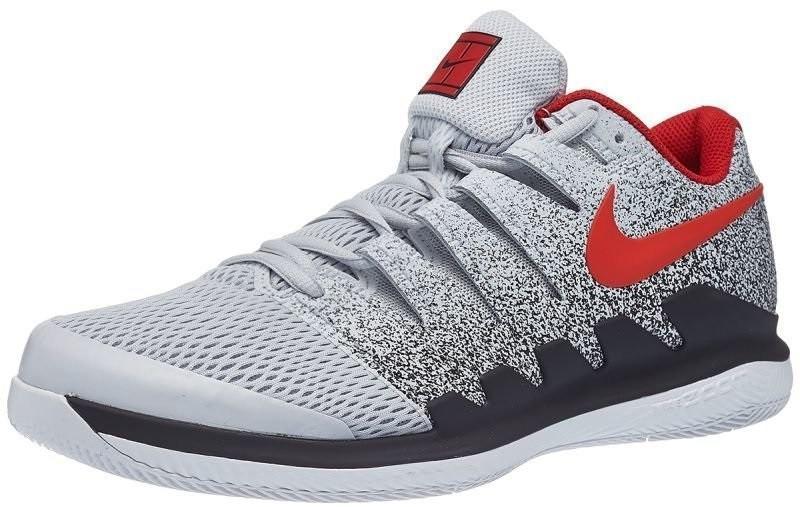 Теннисные кроссовки мужские Nike Air Zoom Vapor 10 HC pure platinum/habanero red/black