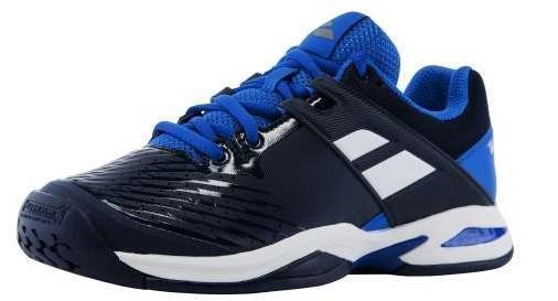 Детские теннисные кроссовки Babolat Propulse All Court Junior dark blue/white