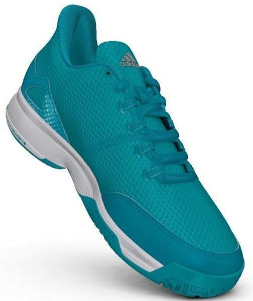 Детские теннисные кроссовки adidas Adizero Club Junior hi-res aqua/matte silver/ftw white