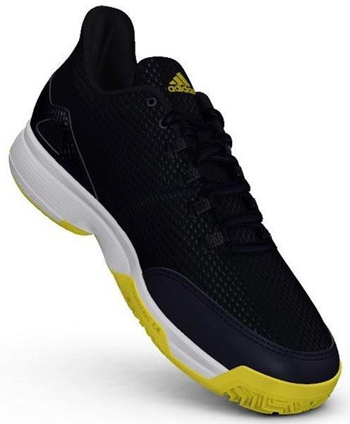 Детские теннисные кроссовки adidas Adizero Club Junior legend ink/ftw white/shock yellow
