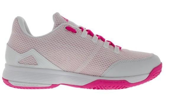 Детские теннисные кроссовки adidas Adizero Club Junior white/shock pink