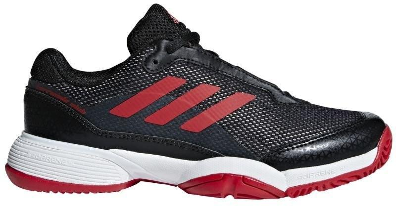 Детские теннисные кроссовки adidas Barricade Club xJ core black/scarlet/ftwr white