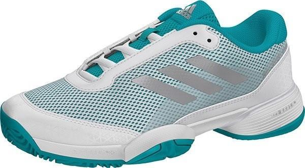 Детские теннисные кроссовки adidas Barricade Club xJ hi-res aqua/ftw white/metallic silver
