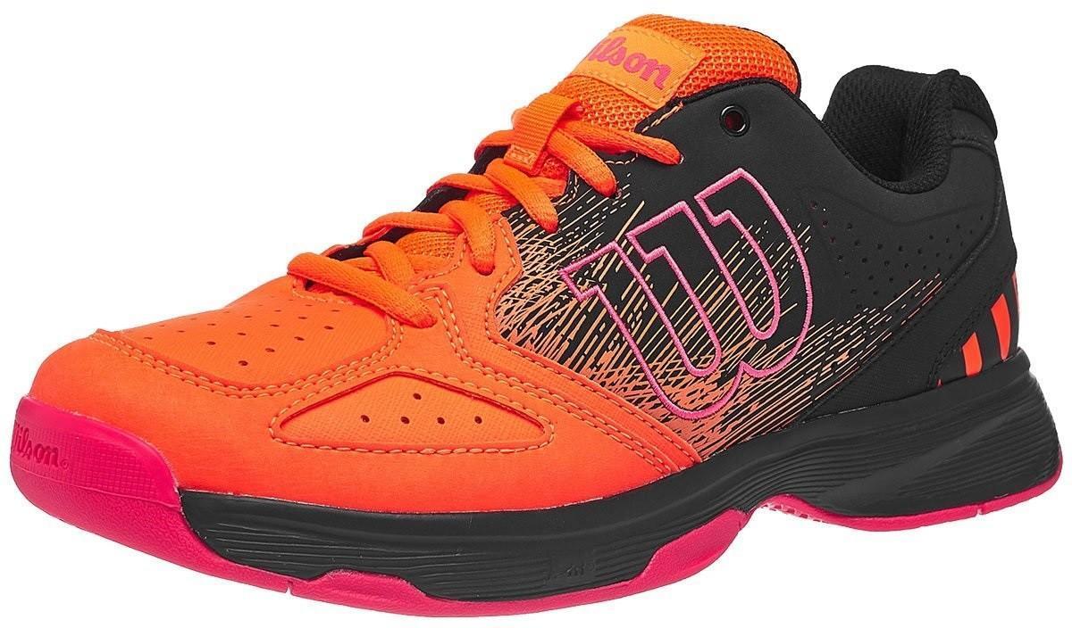 Детские теннисные кроссовки Wilson Stroke JR - shocking orange/black/neon red