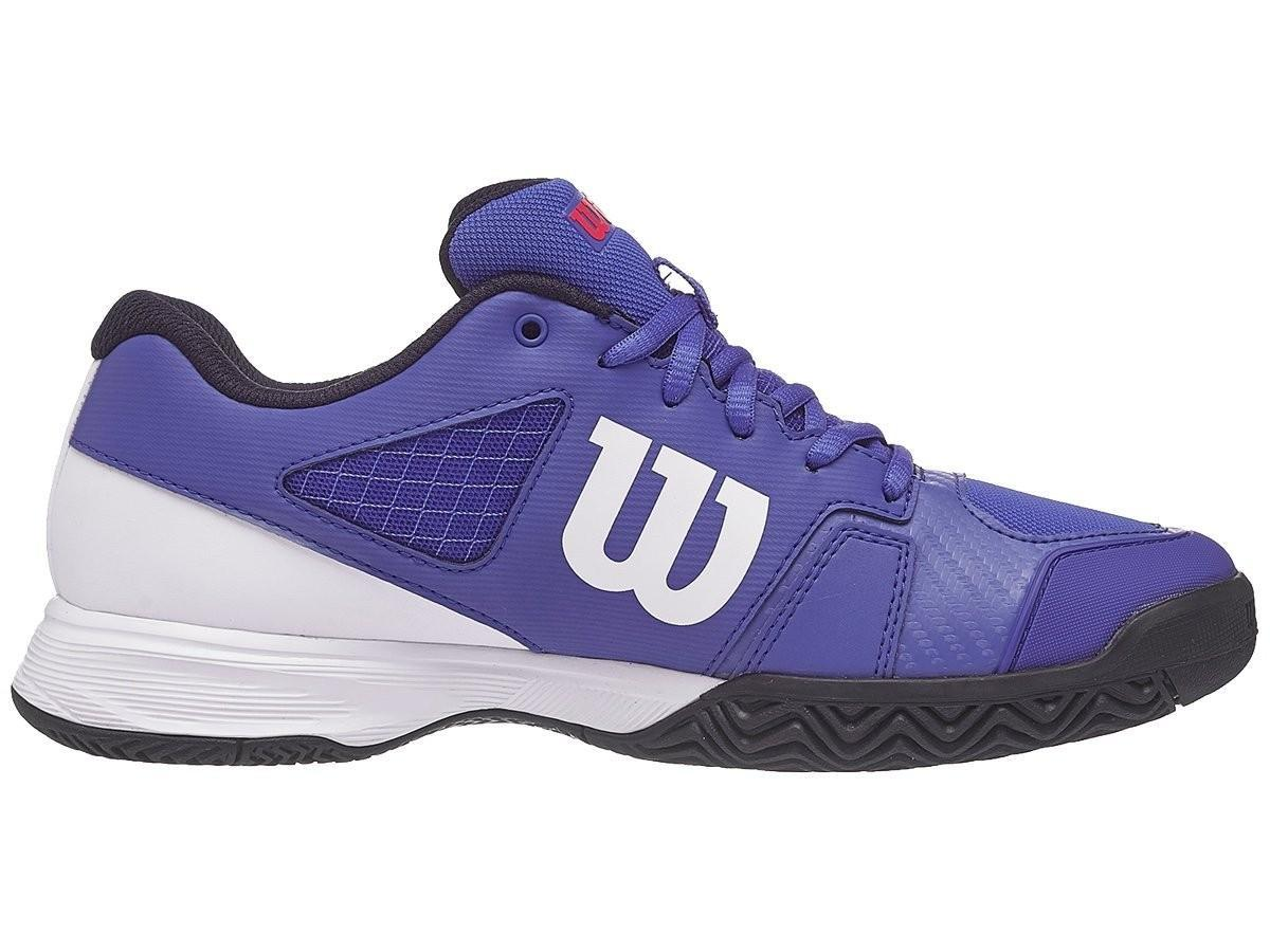Детские теннисные кроссовки Wilson Rush Pro 2.5 Junior - dazzling blue/white/neon red