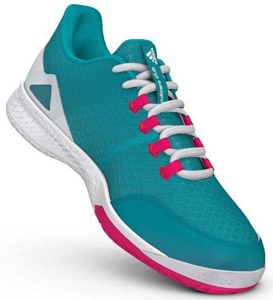 Теннисные кроссовки женские Adidas Adizero Club 2 W hi-res aqua/ftw white/shock pink