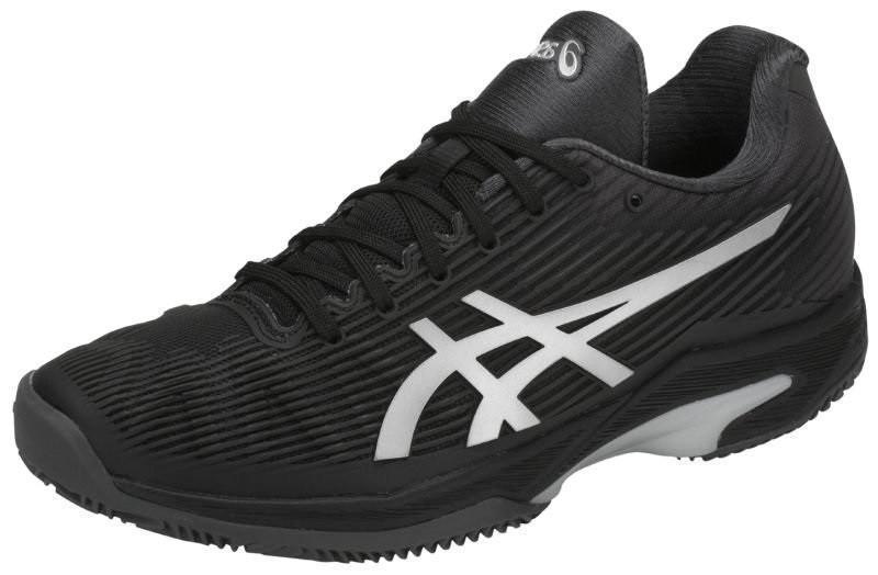 Теннисные кроссовки женские Asics Solution Speed FF ГРУНТ black/silver