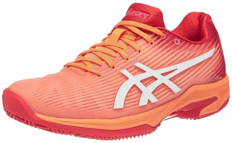 Теннисные кроссовки женские Asics Solution Speed FF ГРУНТ mojave/white