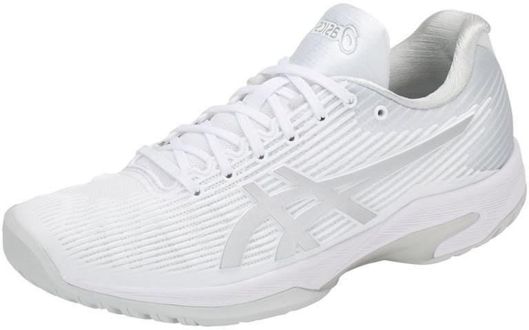 Теннисные кроссовки женские Asics Solution Speed FF W white/silver