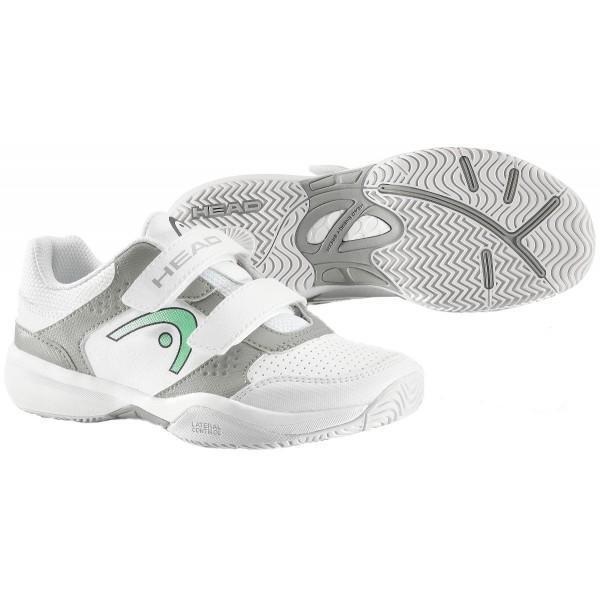 Детские теннисные кроссовки Head Lazer Velcro Junior white/green/grey