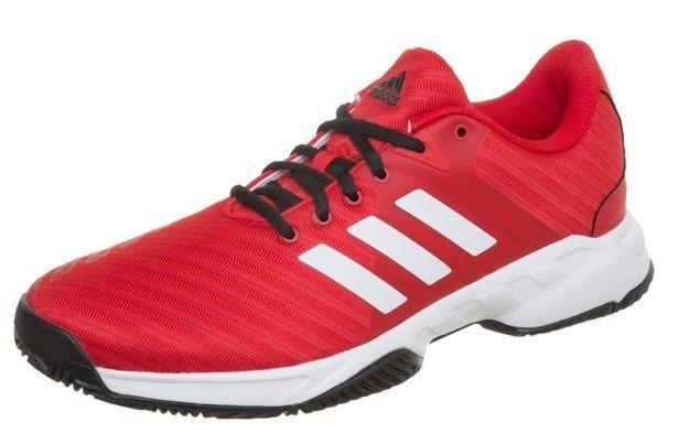 Теннисные кроссовки мужские Adidas Barricade Court 3 scarlet/ftwr white/core black