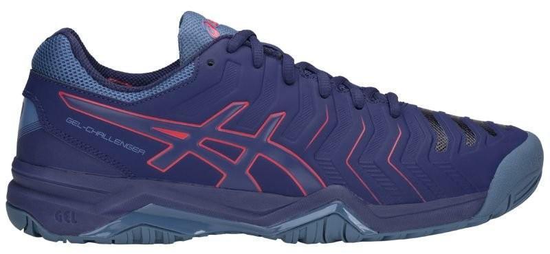 Теннисные кроссовки мужские Asics Gel-Challenger 11 blue print/red alert