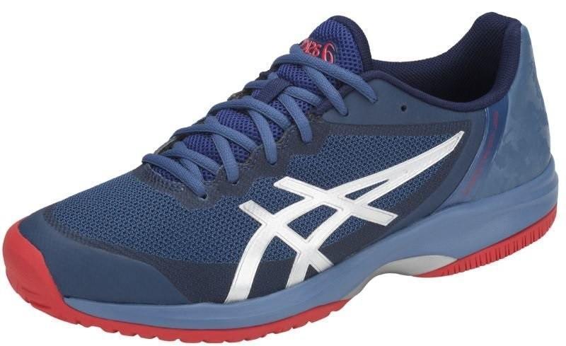 Теннисные кроссовки мужские Asics Gel-Court Speed azure/blue print