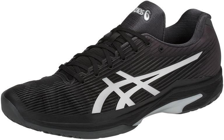 Теннисные кроссовки мужские Asics Solution Speed FF black/silver
