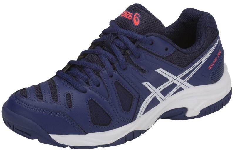 Детские теннисные кроссовки Asics Gel-Game 5 GS blue print/white